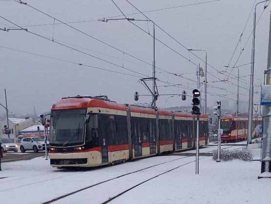 Awaria tramwaju przy galerii Morena