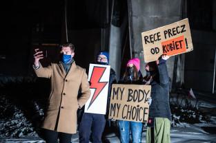 Protest zablokował na krótko ul. Hucisko