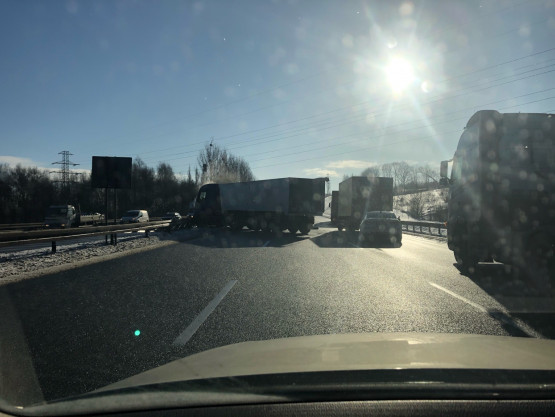 Wypadek na obwodnicy zaraz za zjazdem do Auchan w stronę Pruszcza
