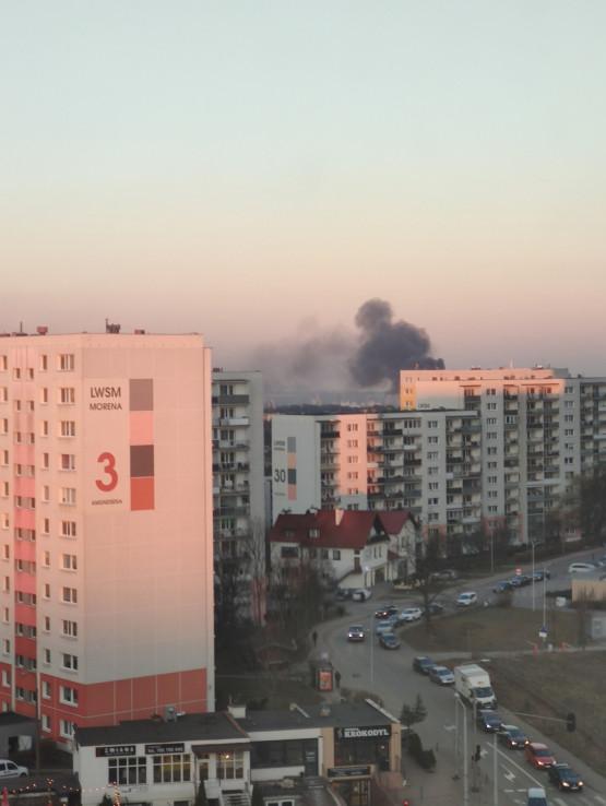 Pożar autobusu na Smoluchowskiego