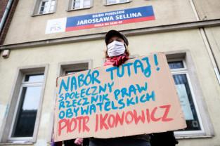 Protest solidarności z Adamem Bodnarem