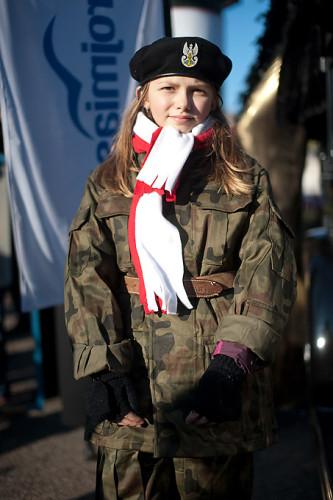 Dziewczynka-żołnierz