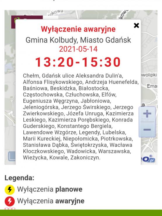 Awaria w dostawach prądu na południu Gdańska