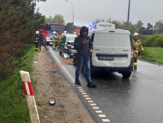 2 zderzenia na DK218 Bojano - Koleczkowo
