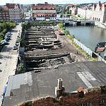 Prace archeologiczne na Wyspie Spichrzów.
