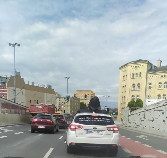 Samochód Apple maps w Gdańsku