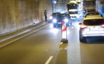 Awaria auta w tunelu pod Martwą Wisłą