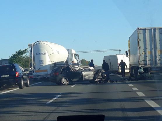 Skutki wypadku na obwodnicy