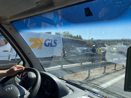 Wypadek na zjeździe na Kowale na obwodnicy