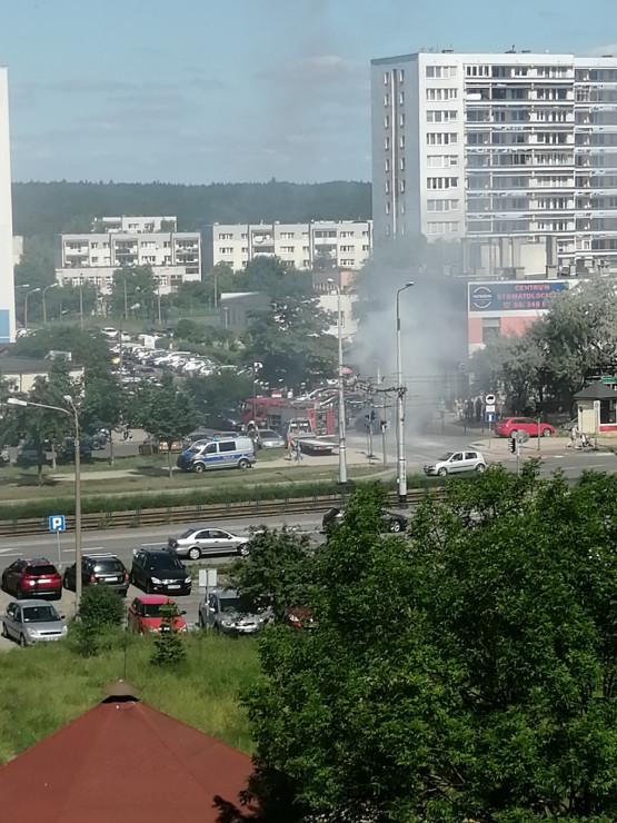 Pożar auta na Marusarzówny na Morenie