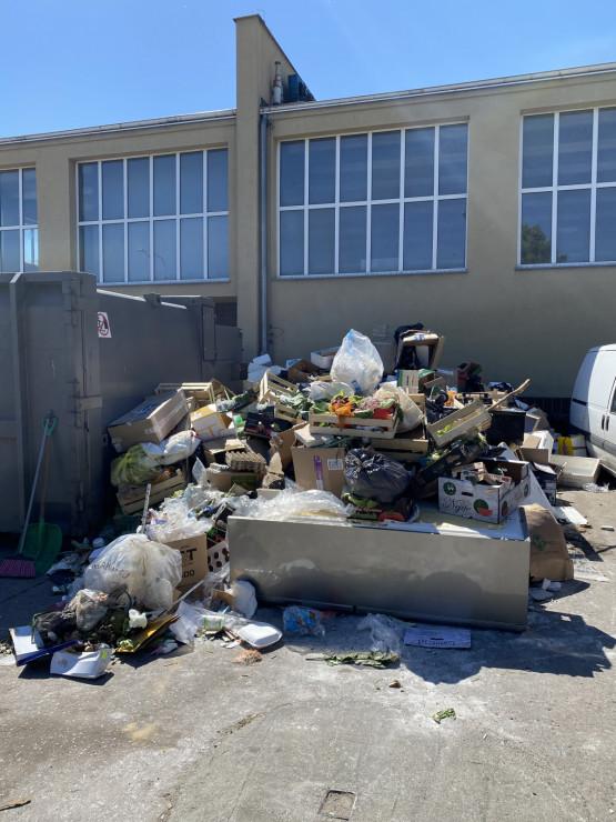 Hałda śmieci w centrum Gdyni