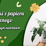 Papierowe osłonki na doniczki z kwiatami