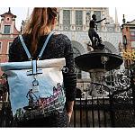 Plecak papierowy z motywem fontanny Neptuna
