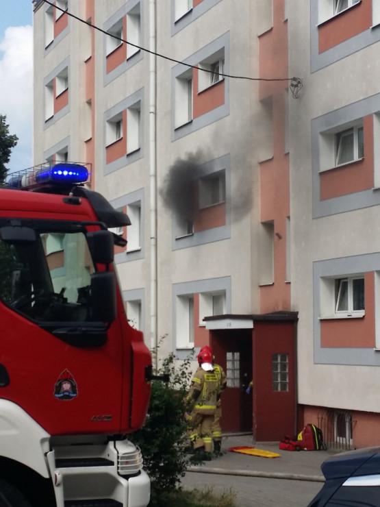 Pożar mieszkania na Gniewskiej w Gdyni