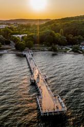 Zachód słońca w Gdyni Orłowo
