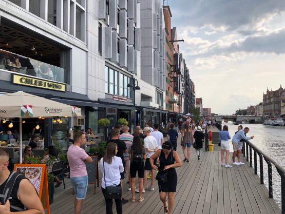 Oblężenie turystów dzisiaj w Gdańsku