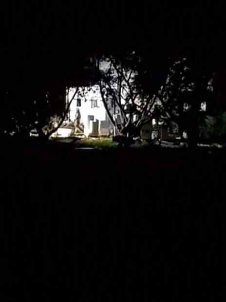 Nocny pożar na  Wyspie Sobieszewskiej