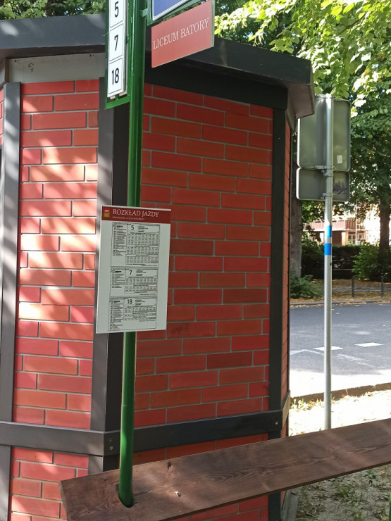 Fałszywy przystanek przy  Politechnice Gdańskiej