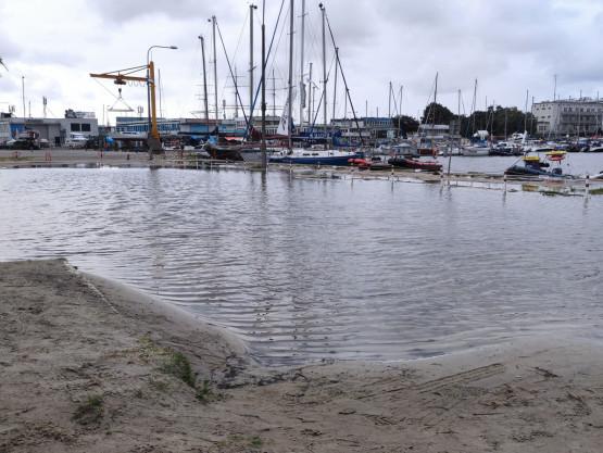 Basen Jachtowy w Gdyni zalany