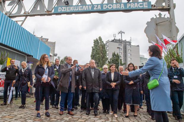 41. rocznica Porozumień Sierpniowych. Symobliczne otwarcie bramy nr 2 Stoczni Gdańskiej