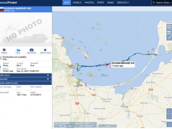Rosyjskie okręty na Zatoce Gdańskiej