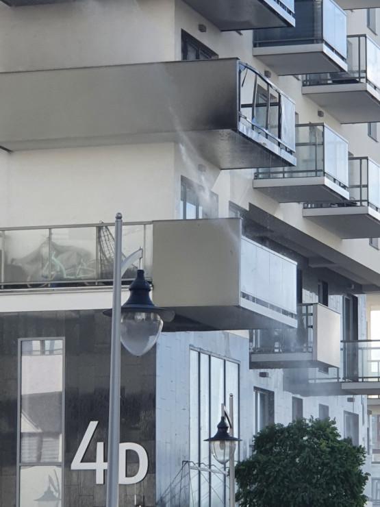 Pożar w bloku na Przymorzu