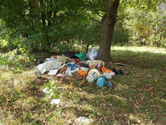 Śmieci na Suchańskiej Górze
