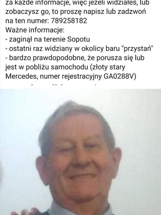 Zaginął mężczyzna w Sopocie