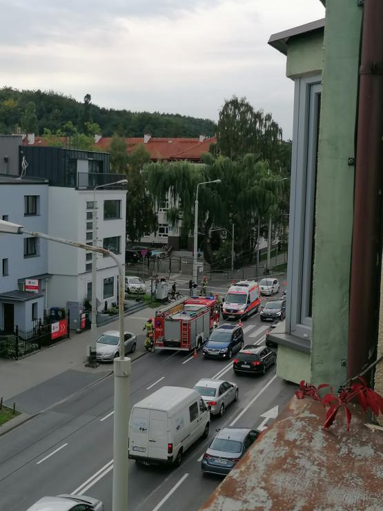 Stłuczka na Wielkopolskiej w Gdyni