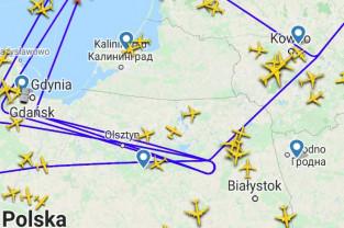 Samolot Nato nad Pomorzem i Trójmiastem