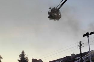 Nocny pożar na Przymorzu