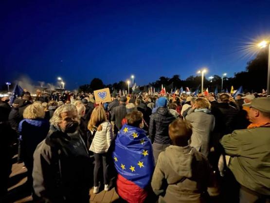 Tłumy na manifestacji w Gdyni