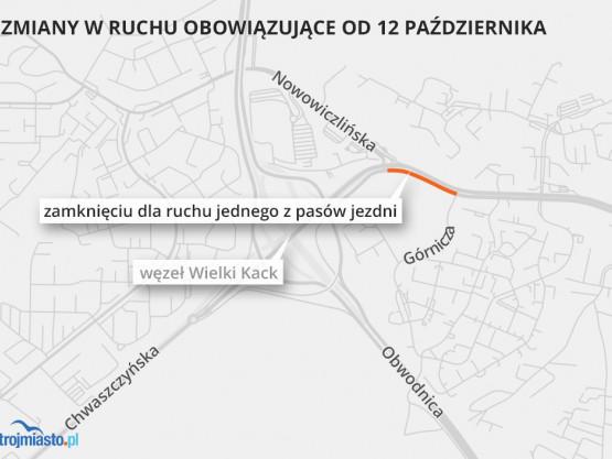 Zmiany w ruchu w Gdyni na ul. Chwaszczyń