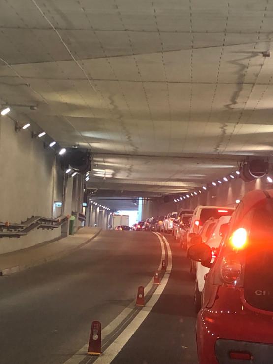Korek w tunelu pod Forum Gdańsk
