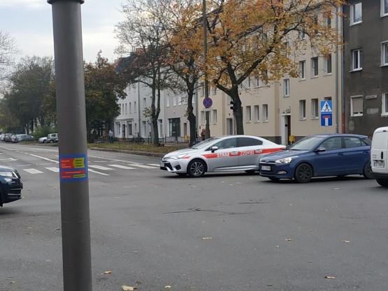 Chrobrego bez przejazdu, znak informujący