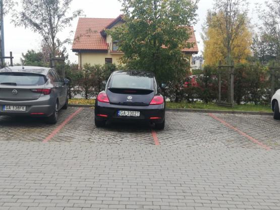Parkowanie na dwóch miejscach postojowych
