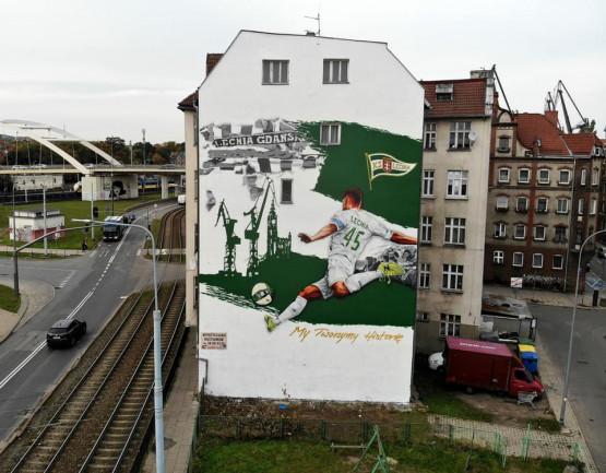 Mural Tuse przy ul. Robotniczej w Gdańsku już gotowy