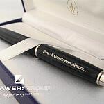 Grawer, grawerowanie, długopis, pióro, głębokie, na biżuterii, eleganckie, watherman