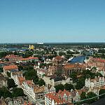 Widok z wieży Bazyliki Mariackiej