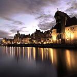 Gdańsk nocą.