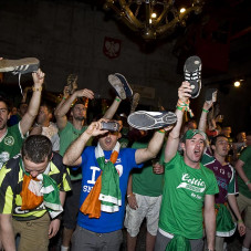 Shoes Up for the Boys in Green