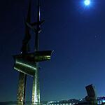 skwer kościuszki - pomnik nocą