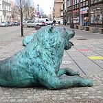 lew z fontanny 4-Kwartałów