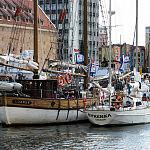 Gdańsk i Syrenka cumujące w Marinie Gdańskiej