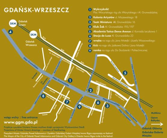 mapka wydarzeń festiwalowych