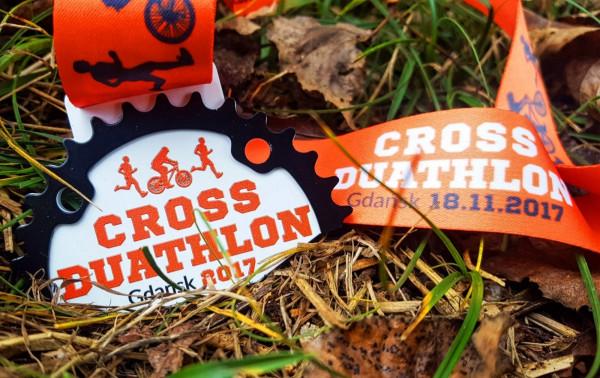 Pamiątkowy medal, który otrzymają wszyscy uczestnicy Cross Duathlonu
