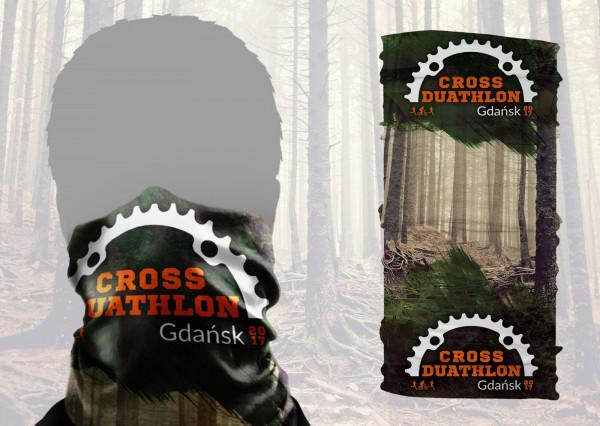 Chroniący szyję i głowę komin, w każdym pakiecie startowym dla uczestników Cross Duathlonu
