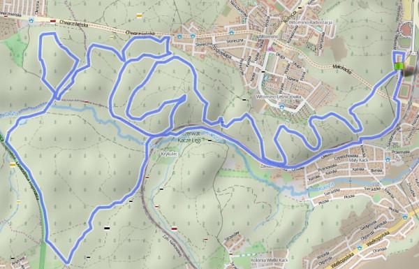 Kliknij na mapę i przeanalizuj przebieg trasy, ściągnij ślad GPS