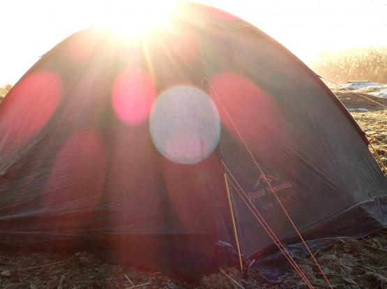 Dla chętnych, zimowe spanie pod namiotem ;)