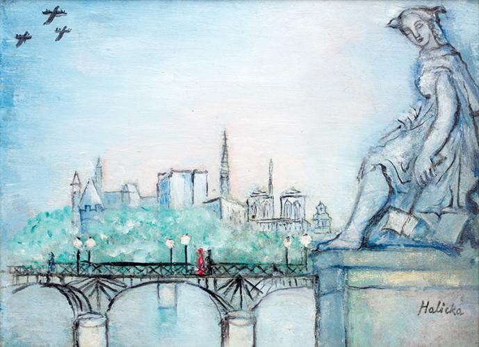 Poz. 11 Alicja Halicka Paryż - Widok na Pont des Arts i Notre Dame, l. 30. XX w.